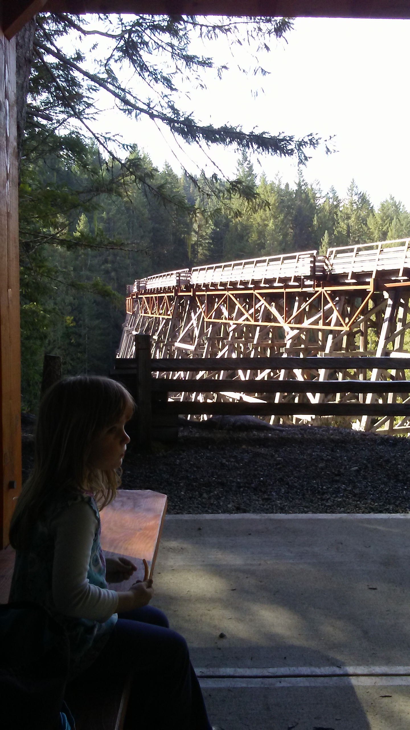 Molly at the Trestle Rest Stop